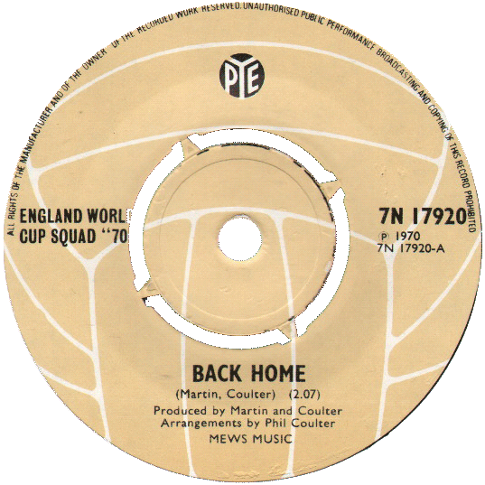 """Back Home"" by the 1970 England World Cup Squad"